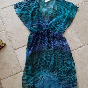 Elan Beach sheer dress coverup